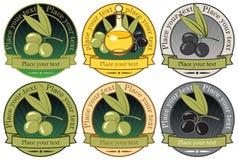 Labels for olive oils Stock Images