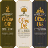Labels for olive oils Royalty Free Stock Images