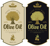 Labels for olive oils Stock Photos