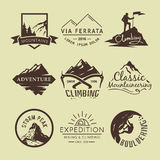 Labels On The Theme Of Climbing Royalty Free Stock Photography