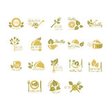 Labels for Organic, Healthy Eco Food. Vector Set Stock Images