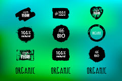 Labels with organic subjects Stock Photography