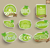 Labels pour la nourriture naturelle Image libre de droits