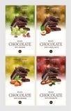 labels pour le chocolat illustration stock
