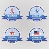 Labels pour le jour de vétérans Photos libres de droits