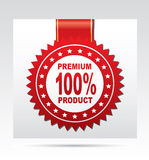 Labels - Premium 100% product Stock Image
