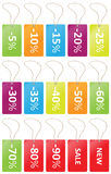 Labels price sale Stock Images