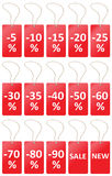 Labels price sale Stock Photo