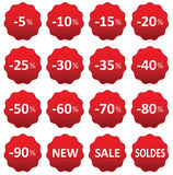 Labels price sale Royalty Free Stock Images
