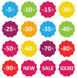 Labels price sale Royalty Free Stock Photos