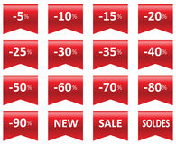 Labels price sale Stock Image