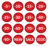 Labels price sale Royalty Free Stock Photo
