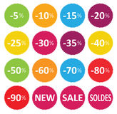 Labels price sale Stock Photos