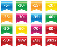 Labels price sale Royalty Free Stock Image