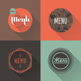 Labels for restaurant menu design. Vector illustration Royalty Free Stock Image