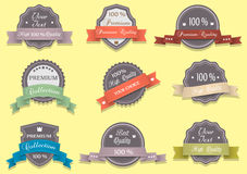 Labels in retro colors Royalty Free Stock Images