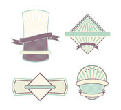 Labels with retro vintage styled design. Set of labels with retro vintage styled design Stock Photos
