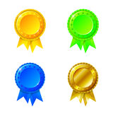 Labels with ribbons set Royalty Free Stock Photo