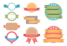 Labels with Ribbons Stock Image