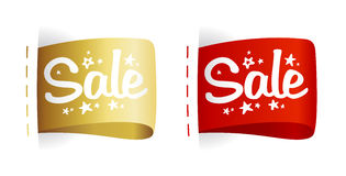 Labels Sale. Royalty Free Stock Photography