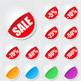 Labels for sale Stock Photo