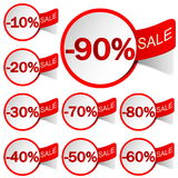 Labels sale Stock Photo