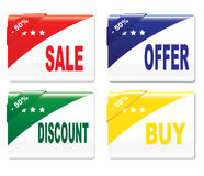 Labels - sale, offer,discount, buy Stock Image