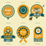 Labels on sale quality  set Stock Image