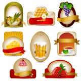 Labels set. Vector food and beverage label set Stock Images