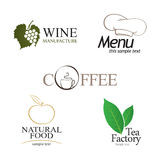 Labels set. Elements of corporate identity, food and drink industry Stock Photography