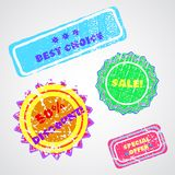 Labels. Set of colored labels. Vector illustration. 10EPS Royalty Free Stock Images
