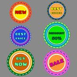 Labels3. Set of colored labels. Vector illustration. 10EPS Stock Photos