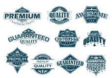 Labels set denoting Premium Quality Royalty Free Stock Images