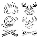 labels set with hunting theme Royalty Free Stock Photos