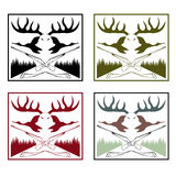 Labels set with hunting theme Royalty Free Stock Photography