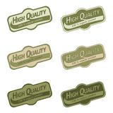 Labels set for organic products. Labels set for organic, bio, natural products Royalty Free Stock Photography