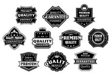Labels set in vintage western style Stock Images