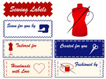 labels sewing tailoring Στοκ Εικόνα