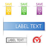 Labels and sticker. Vector. stock illustration