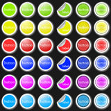 Labels and stickers. Set of different colorful labels and stickers Royalty Free Stock Photos