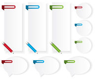 Labels stickers bubble speech illustration Stock Image