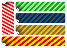 Labels and stickers with stripes Stock Photos