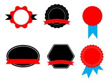 Labels stickers and tags on white background. stickers sign. flat style. ribbon bannersfor your web site design, logo, app, UI. royalty free illustration