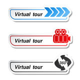 Labels - stickers for virtual tour Stock Image