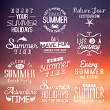 Labels for summer design. Royalty Free Stock Photo