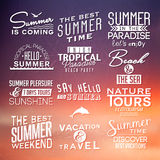 Labels for summer design. Stock Images