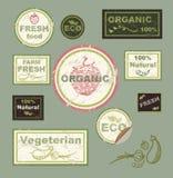 Labels, sur le thème de l'écologie Photo libre de droits