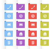 Labels with symbols Royalty Free Stock Photography
