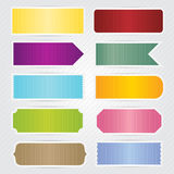 Labels Tags Banners With White Border Design Stock Image