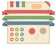 Labels,Tags & Ribbons, Icons Stock Image